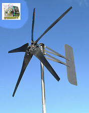 Wind Energy Turbine 5 Blade 1645W 48 volt AC 3-wire 14-SC PMA 6.3 kW W/SEA