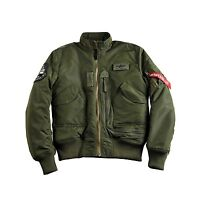 ALPHA INDUSTRIES ENGINE JACKE  DARK GREEN GRÜN FLIEGERJACKE NEU OVP