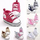 New! Infant Toddler Baby Boy Girl Shoes Kid Sneaker Leopard Newborn Lace-up #FL1