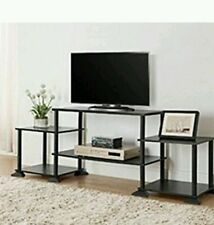 TV Stand Entertainment Center Media Console Furniture Wood Storage Cabinet Flat