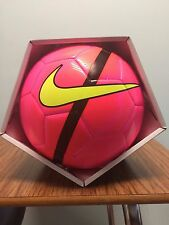 SOCCER BALL-NIKE-MERCURIAL-SIZE 5-REPLICA MATCH BALL-PINK IN COLOR-NEW-IN BOX-
