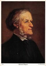 B99689 richard wagner a herrmann postcard composer  famous people germany
