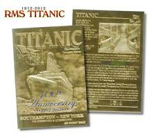 RMS TITANIC 100th Anniversary 1912-2012 Limited Edition 23KT Gold Card * BOGO *
