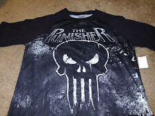 Punisher Mens Marvel Comics Super Hero Skull Black T-Shirt Size Medium M