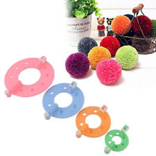 Knitting Tool Xmas 8pcs 4 Sizes Essential Pompom Maker Fluff Ball Weaver Needle