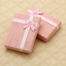 """10X Paperboard Pink Jewelry Pendant Case Gift Box 7cmx5cm / 2.8"""" x2"""" CHIC"""