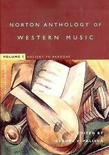 USED: The Norton Anthology of Western Music: vol 1: Ancient to Baroque ...