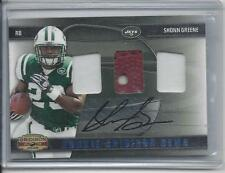 SHONN GREENE 2009 GRIDIRON GEAR ROOKIE GEMS TRIPLE PATCH AUTO RC #D 25/25
