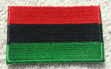 PAN-AFRICAN FLAG PATCH Embroidered Badge Iron Sew 4.5x6cm African American UNIA