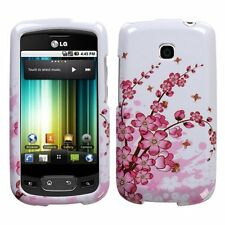 Spring Flower rubberized LG P509 OPTIMUS T phone T-Mobile case hard Cover NEW
