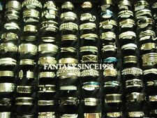 wholesale mixed lot 30pcs mens womens stainless steel jewelry fashion rings