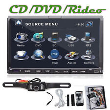 "7"" HD Touch Screen Double 2 Din Car DVD Player Stereo iPod RDS Radio TV + Camera"