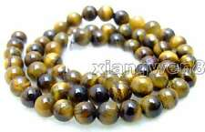 "SALE Small 6mm Round natural Tiger's-eye gemstone Beads strand 15""-los496"