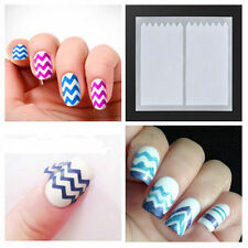 10 Sheets French Manicure Guide ZiG ZaG Nail Art Stickers Tips Manicure Stencils