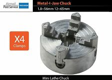 Mini lathe Metal 4-Jaw Chuck clamps 1.8~56mm 12~65mm Z011