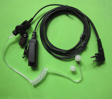 2 Pin Headset Mic Covert Acoustic Tube Earpiece For Motorola Radio