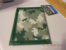 Green CAMO Boys Kids Child camouflage BIFOLD WALLET new