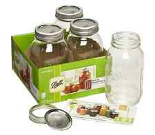 Mason Glass Jam Jar 945ml x 4 Ball Decorative Pickle Chutney Wedding Favour Gift