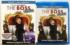 THE BOSS BLU RAY DVD 2 DISC SET + SLIPCOVER SLEEVE FREE WORLD WIDE SHIPPING