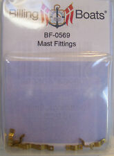 Billing Boats Accessory BF-0569 - 10 x 8mm 2 Hole Brass Mast Fittings New Pack