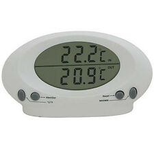 Indoor/Outdoor Thermometer -50°C to +70°C -Celsius, Farenheit- Large LCD Display