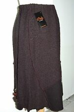 Ladies 'Orla' from Tivoli Skirt Black Wool Size XL Super Quality RRP £99 (EE4)