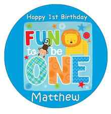 1st Birthday Boy Personalised Cake Topper Edible Wafer Paper 7.5""