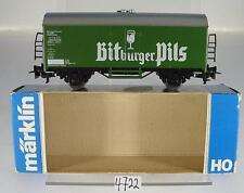 Märklin H0 4421 Kühlwagen Bitburger Pils 2-achsig der DB 2~  OVP #4722