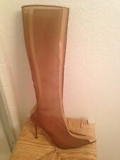 Christian Louboutin Tan Mesh Boot Pointed Toe Size 41 SINGLE SHOE Only 1 Shoe