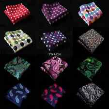 Lot 10pcs Men Hanky Polka Dot Paisley Pocket Square Wedding Party Handkerchief