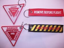 SET OF 4 RAF remove before flight martin baker ejection seat live keyrings .