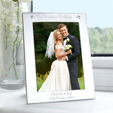 Personalised - on OUR DAUGHTERS WEDDING DAY Picture Photo Frame - Parents Gift