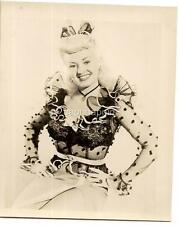 "Vintage c1940s Hollywood Actress Betty Grable Fan Club Souvenir 4x5"" Photo"