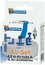 Superfish 6 un. Conjunto de Accesorios De Arranque De Aire De Acuario Válvula Conector de abrazaderas de aerolínea