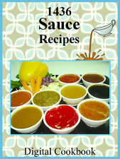 1436 Delicious Recipes For Sauces E-Book Cookbook CD-ROM