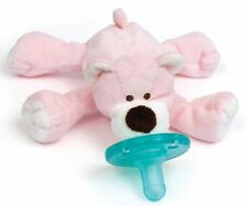 NEW   Wubbanub PINK BEAR Infant Baby Soothie Pacifier Binky   FREE SHIPPING