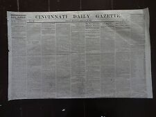HISTORIC January 13, 1865 Cincinnati Daily Gazette Civil War Newspaper