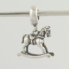 New Pandora Bead Charm - Sterling Silver 791413 Rocking Horse Dangle Toy ALE 925