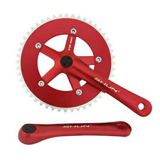 Red Shun 48T Alloy 170 Single Speed Fixed Gear Track Fixie Crankset Crank Set