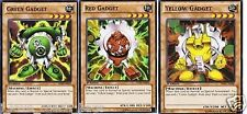 Gadgets 3-Card  set: Red + Yellow  + Green Gadgets 1st SDYR YUGIOH