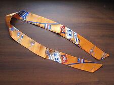 "Orange Silk Twilly~Silk Handbag Tie~Silk Scarf~100% Silk Tie~41"" x 2""~105 x 5cm"