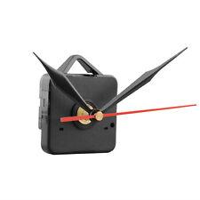 Silent Clock Quartz Movement Mechanism Black and Red Hands DIY Repair Kit Tool