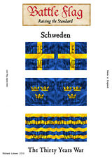 Battle Flag - Swedish Infantry (Thirty Years War) - 28mm