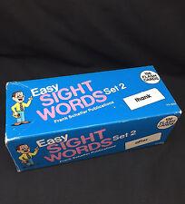 VINTAGE FRANK SCHAFFER EASY SIGHT WORDS SET 2 100 FLASH CARDS
