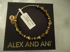 ALEX AND ANI GOLDEN LUSTER WONDER BEADED BANGLE Russian Gold New WTag Card & Box