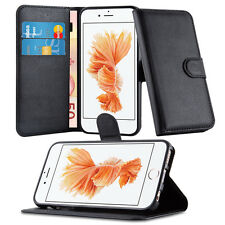 iPhone 6/6S PU Leather Credit Card Wallet Magnetic Flip Stand Case Cover - Black