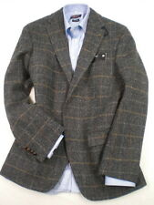 "Genuine Harris Tweed Blue/Grey Overcheck Jacket. 40"" Short and 46 Short"" Only!"
