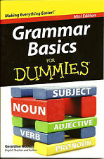 Grammar Basics for Dummies - Learn English Speaking Writing Mini Edition - New