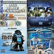 """Pee Wee Longway (4 CD)-""""Blue M&M 1 & 2, MR. BLUE BENJAMIN, MPA 2"""" Official MIXCD"""