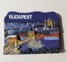 SOUVENIR BUDAPEST Hungary  3D RESIN FRIDGE MAGNET